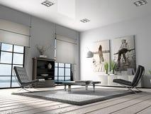 Representación casera del interior 3D Fotos de archivo libres de regalías