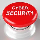Representación cibernética de la salvaguardia 3d del sistema empresarial de la seguridad Ilustración del Vector