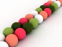 Representación coloreada de las bolas 3d Imagen de archivo libre de regalías