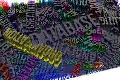 Representación colorida 3d Composición abstracta de la forma del fondo, GE libre illustration
