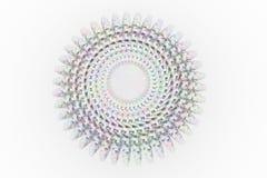 Representación colorida 3d Compuesto de esfera del carácter de la moneda o stock de ilustración