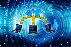 Representación computacional del concepto 3d de la nube Imagen de archivo libre de regalías