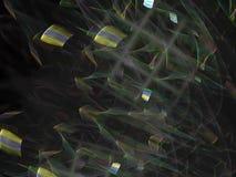 Representación creativa generada dreamlike vibrante, plantilla del día de fiesta elegante fino de la tarjeta del fractal abstract ilustración del vector