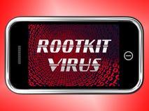 Representación criminal cibernética del Spyware 3d del virus de Rootkit ilustración del vector