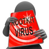 Representación criminal cibernética del Spyware 3d del virus de Rootkit stock de ilustración
