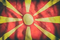 representación 3d de agitar de la bandera de Macedonia Fotografía de archivo