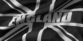 representación 3D de la bandera del Reino Unido en color negro con textura de la tela libre illustration