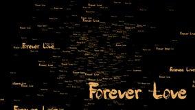 representación 3d de la fraseología del amor del forever con color oro agradable ilustración del vector