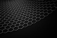 representación 3D de la superficie del graphene, enlaces grises con la estructura del carbono libre illustration