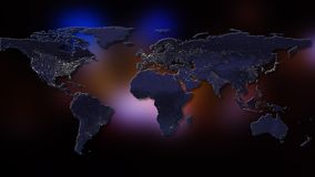 representación 3d de la tierra del planeta Usted puede ver los continentes, ciudades Elementos de esta imagen equipados por la NA Fotos de archivo