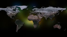 representación 3d de la tierra del planeta Usted puede ver los continentes, ciudades Elementos de esta imagen equipados por la NA Imágenes de archivo libres de regalías