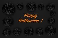 representación 3d de las calabazas de Halloween Imagenes de archivo