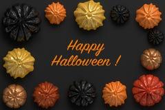 representación 3d de las calabazas de Halloween Imágenes de archivo libres de regalías
