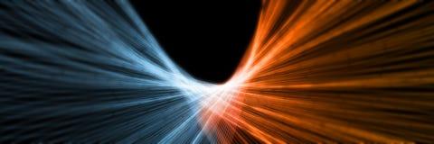 representación 3D de las líneas abstractas elemento del fuego y del hielo contra contra uno a fondo stock de ilustración