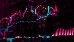 representación 3D de los índices de existencias en espacio virtual Desarrollo económico, recesión imagenes de archivo