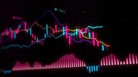 representación 3D de los índices de existencias en espacio virtual Desarrollo económico, recesión imágenes de archivo libres de regalías