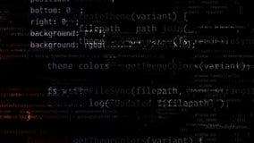 representación 3D de los bloques abstractos de código situados en el espacio virtual libre illustration