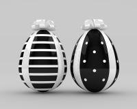 representación 3d de los huevos de Pascua con el arco stock de ilustración