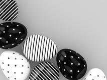 representación 3d de los huevos de Pascua con el espacio vacío ilustración del vector