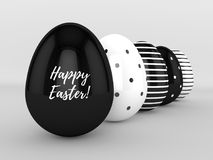 representación 3d de los huevos de Pascua en fila libre illustration