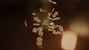 representación 3d de muestras que caen de dólares Fotografía de archivo libre de regalías