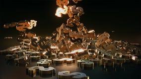 representación 3d de muestras que caen de dólares Imagenes de archivo