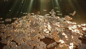 representación 3d de muestras que caen de dólares Imagen de archivo