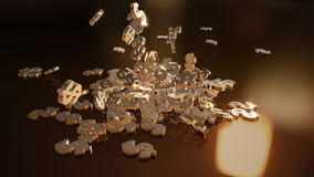 representación 3d de muestras que caen de dólares Imágenes de archivo libres de regalías