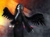 representación 3D de un ángel de muerte Fotos de archivo libres de regalías