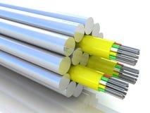 representación 3d de un cable óptico de la fibra Imagenes de archivo