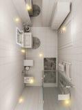 representación 3D de un diseño interior del cuarto de baño para los niños Imagen de archivo libre de regalías