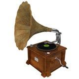 representación 3d de un fonógrafo Fotografía de archivo libre de regalías