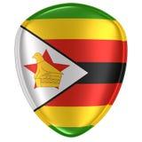 representación 3d de un icono de la bandera de República de Zimbabue stock de ilustración
