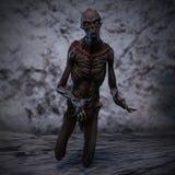 representación 3D de un monstruo espeluznante Imágenes de archivo libres de regalías