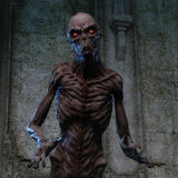 representación 3D de un monstruo espeluznante Fotos de archivo libres de regalías