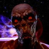representación 3D de un monstruo espeluznante Foto de archivo libre de regalías