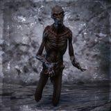 representación 3D de un monstruo espeluznante Fotografía de archivo