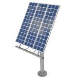 representación 3d de un panel solar Fotos de archivo libres de regalías