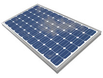 representación 3d de un panel solar Foto de archivo libre de regalías