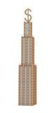 representación 3d de un rascacielos con gradas tres con una muestra grande de USD como ella chapitel del ` s en el fondo blanco Fotografía de archivo