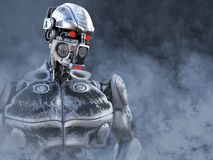 representación 3D de un soldado mech futurista libre illustration