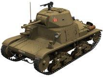 representación 3d de un tanque italiano M1340 Imagen de archivo