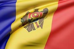 representación 3d de una bandera de Moldavia libre illustration