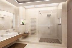 representación 3D del cuarto de baño Imagen de archivo libre de regalías