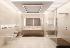 representación 3D del cuarto de baño Foto de archivo libre de regalías