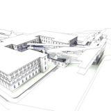 representación 3D del edificio Imagen de archivo