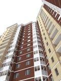 representación 3d del edificio residencial de varios pisos moderno Imágenes de archivo libres de regalías