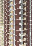 representación 3d del edificio residencial de varios pisos moderno Imagen de archivo