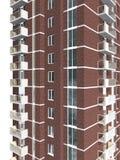 representación 3d del edificio residencial de varios pisos moderno Fotos de archivo libres de regalías
