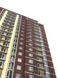 representación 3d del edificio residencial de varios pisos moderno Imagen de archivo libre de regalías